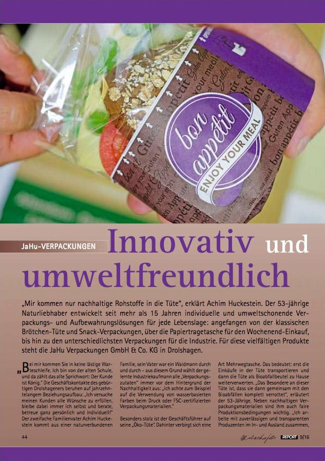 Innovativ und umweltfreundlich